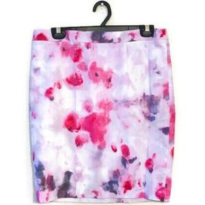 Willi Smith Water Color Floral Pencil Skirt size 8